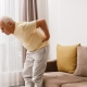 Senior man is suffering from pain in lower back
