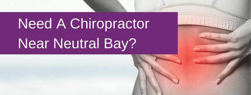 chiropractor neutral bay banner